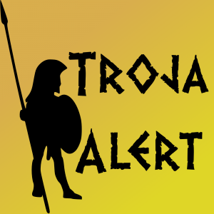 "Logo des Podcasts ""Troja Alert"""
